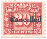 Canada excise taxe stamp